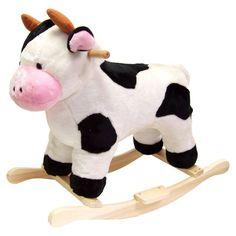Happy Trails Cow Plush Rocking Animal - 80-16COW