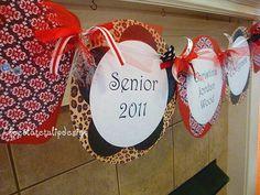 Graduation Banner Red & Black Cheetah by chocolatetulipdesign, $38.00
