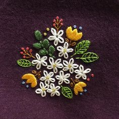Wonderful Ribbon Embroidery Flowers by Hand Ideas. Enchanting Ribbon Embroidery Flowers by Hand Ideas. Crewel Embroidery Kits, Embroidery Needles, Learn Embroidery, Silk Ribbon Embroidery, Cross Stitch Embroidery, Machine Embroidery, Embroidery Ideas, Embroidery Tattoo, Embroidery Supplies