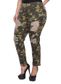 Plus Size Distressed Camo Skinny Pants Camo Skinny Pants, Camouflage Jeans, Rainbow Shop, Girls Night, Plus Size Outfits, Plus Size Fashion, Night Out, Legs, My Style