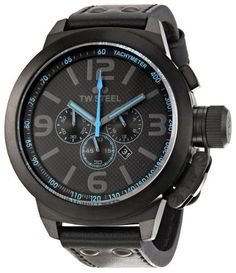 TW Steel Men's TW905 Cool Black Black Leather Strap Watch - http://www.specialdaysgift.com/tw-steel-mens-tw905-cool-black-black-leather-strap-watch/