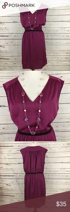 "Loft Shift Dress Silk look shift dress with loose elastic waist. Bust 44"", waist to hem 21"". Machine wash, tumble dry. LOFT Dresses"