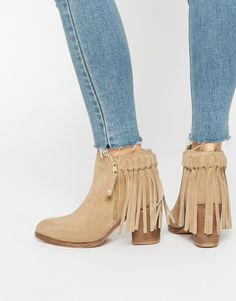 ASOS+RHYMES+Suede+Fringe+Ankle+Boots
