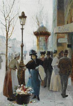 José Maria Jardines -A PARISIAN FLOWER SELLER