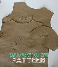 how to make your own pattern #pattern #sewing #crafts pb≈