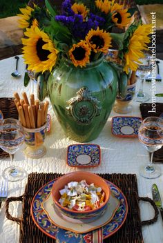 Italian table setting
