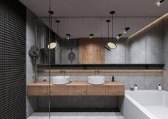Home Inspiration // Beton Design Interior ideas The Perfect Scandinavian Style Home Double Sink Bathroom, Bathroom Sink Vanity, Modern Bathroom, Double Sinks, Bathroom Images, Bedroom Modern, Double Vanity, Master Bathroom, Interior Minimalista