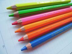 LYRA Neon Fluo Colored Pencil. $3.99, via Etsy.