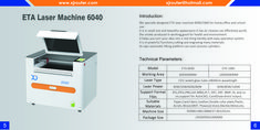We designed ETA laser machine 6040/1060 for home,office and school use specially.It is in small size and beautiful appearance.It has air cleaner,can effectively purify the smoke produced in working,good for health and environment. It helps you turn your idea into a real thing handily with easy operation system. It is in powerful functions,cutting and engraving many meterials. Its own automatic lifting platform can even process cylinders.