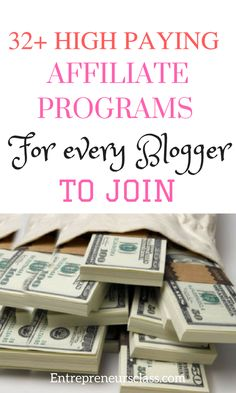 32 High Ticket Affiliate Programs To Promote In 2016.Get the list of high paying affiliate programs to join as a blogger.