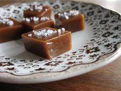 Salted Caramels (Adapted slightly from Ina Garten's recipe for Fleur de Sel Caramels)