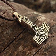 Viking Art, Viking Runes, Thor Hammer Replica, Thor's Hammer Necklace, Pendant Necklace, Mjolnir Pendant, Eagle Head, Asatru, Viking Tattoos