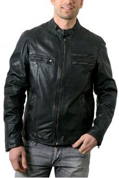Veste en cuir Jofama sur  Zalando     mode  homme   leather jackets ... 431e2544a13