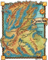 Wheel of Time Poster Sepia Map of Randland Poster