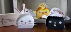 EASTER TREAT BOXES: by Laura Mellinger