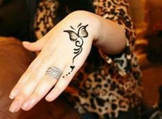 Little Butterfly Simple Henna Designs