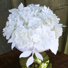 Handmade paper flower centerpiece - Chanel Runway Inspired - For the Love of Paper...