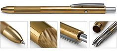 Vierminenschreibgerät Messing - brass pen 4 colors