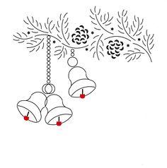 kersttak met klokjes