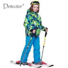 aceb6b17bef Ski Sets Winter Waterproof Windproof Kids Ski Jacket Children Outdoor Warm  Hooded Snowboard Sports Suits Kids