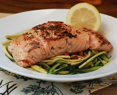 grilled-salmon~~ I Love, Love this marinade. I don't typically like to eat salmon but this stuff is good.