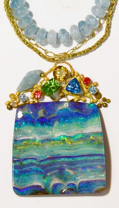 Jennifer Kalled, Boulder opal design.  Boulder opals from Bill Kasso.  www.kalledjewelrystudio.com