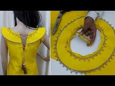 In this video I will show you latest partywears kurti boat neck designs full making method with easy and sim. Chudi Neck Designs, Salwar Neck Designs, Kurta Neck Design, Neck Designs For Suits, Blouse Back Neck Designs, Designs For Dresses, Sleeve Designs, Blouse Designs, Design Your Own Dress