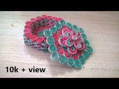 Tutorial five how to make new design of Quilling Box in easy way to do it use of two colour paper and some material.watch it Thank you Buy Material:- http. Paper Quilling Designs, 3d Quilling, Quilling Paper Craft, Quilling Cards, Paper Crafts, Quilling Ideas, Jewellery Box, Jewelry Gifts, Quilling Tutorial