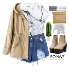 """#Romwe"" by credentovideos ❤ liked on Polyvore featuring Givenchy, The Elephant Family, Ralph Lauren Home and Marie Turnor"