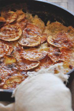 Sweet Potato Parmesan Gratin || Minimalist Baker