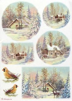 Stamperia Paper For Stamping Christmas Postcards for sale online Christmas Topper, Christmas Tag, Winter Christmas, Vintage Christmas, Christmas Crafts, Christmas Decorations, Christmas Ornaments, Christmas Scenes, Christmas Pictures
