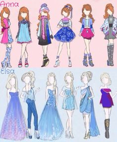 beutiful disney outfits from frozen! elsa and anna inspired hair hairstyle and ootd, outfits :) Disney Pixar, Arte Disney, Disney And Dreamworks, Disney Magic, Disney Frozen, Disney Art, Disney Movies, Disney Characters, Frozen Art