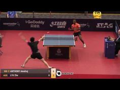 ANTHONY Amalraj   LYU Zhe 2017 Australian Open 호주오픈탁구대회