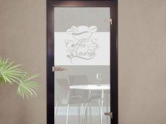 #Sichtschutzdekor Dekor #Milchglasfolie für #Küche #Kaffee #Bohnen #Tasse #Glastür