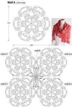 Best 11 Delfina Ramos's media content and analytics – SkillOfKing. Crochet Cord, Freeform Crochet, Crochet Trim, Irish Crochet, Crochet Motif, Crochet Shawl, Crochet Lace, Crochet Stitches, Crochet Vest Pattern