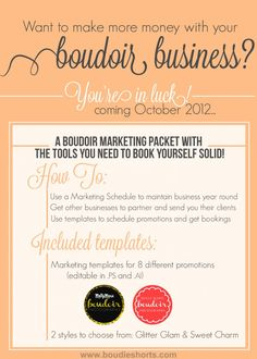 How to market your boudoir business to get new clients and keep business steady year-round.