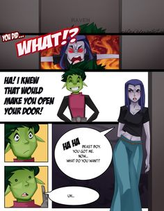 Fair Games pg 6 by Ceshira on DeviantArt Teen Titans Raven, Teen Titans Go, Comic Book Characters, Comic Books, Comic Art, Raven Beast Boy, Original Teen Titans, Hunger Games Memes, Bbrae