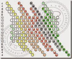 JPo-kulka19 bargello 7kol Beading Tutorials, Beading Patterns, Bead Crochet Rope, Bargello, Peyote Stitch, Beads, Knitting, Pendant, Beaded Bead