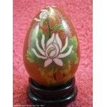 Beautiful Red CLOISONNE EGG Chinese / Easter Egg