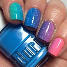 Stunning rainbow nail art. #SoCuex