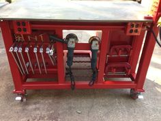 Welding Table with clamp, grinder, and saw storage