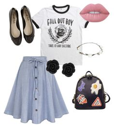 """""""Untitled #22"""" by potterhead640 on Polyvore featuring WithChic, Lipsy and Lime Crime"""