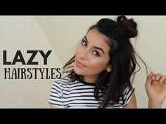 How to Create the Top Knot Half Down Hairstyle (EASY) - YouTube