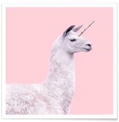 Lama Unicorn - Paul Fuentes - Premium poster