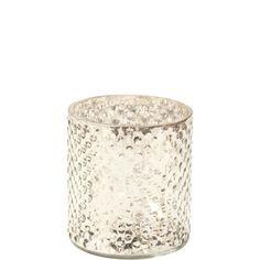 DELIGHT mécsestartó 8cm ezüst üveg