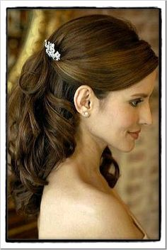 wedding hair half up half down with hairpin - Szukaj w Google