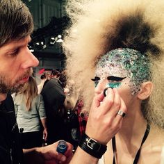 Backstage at the Maybelline N.Y. show @ Berlin Fashion Week 2015