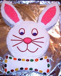Old fashioned Easter Bunny Cake...I LOVED making this as a kid. Yum...and Fun!