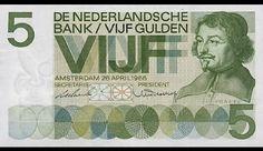 biljetten Nederlandse Guldens