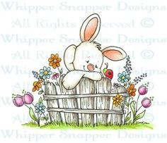 Bunny Fence - Spring/Summer 2014 - Rubber Stamps - Shop